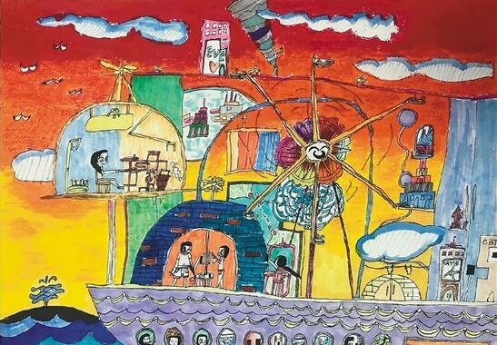 """编者按:在这阳光灿烂、鲜花盛放的季节里,孩子们又迎来了属于自己的节日。 每个孩子都是小小艺术家,涂涂画画是他们的天性,是他们内心世界最真实的情感表达,也是对现实最质朴的感性认识。孩子们通过绘画表现其所知所想,毫无顾忌,就像走进一个敞开大门的奇幻乐园。在六一儿童节来临之际,编者选刊了几幅儿童绘画作品,与读者一起分享孩子们的童心童趣。  尤劼(8岁) 水墨动物 绘画班新来一个幼儿园中班的小女孩,第一次抓起毛笔画画,就好像胸有成竹,从容淡定,理所当然。邻座有个小男孩讥议老人如何可笑,小女孩淡然说:"""""""