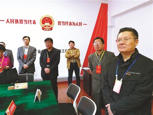 代表们在文昌社区人大代表工作站视察.